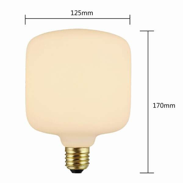 T125 Decorative Frosted Glass Led Bulbs Amber Warm Dimmable
