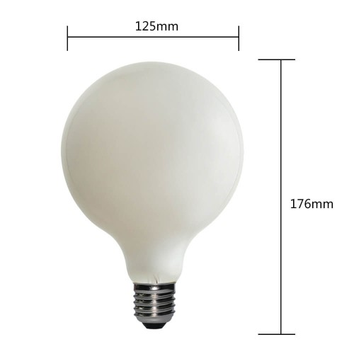 G180S-8W-FROSTED DECORATIVE FROSTED LIGHT BULBS   SIHON LIGHTING