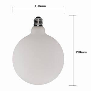 FROSTED GLASS LARGE GLOBE ANTIQUE LED BULBS G150 DIMMABLE 6W G150-F6W | SIHON LIGHTING