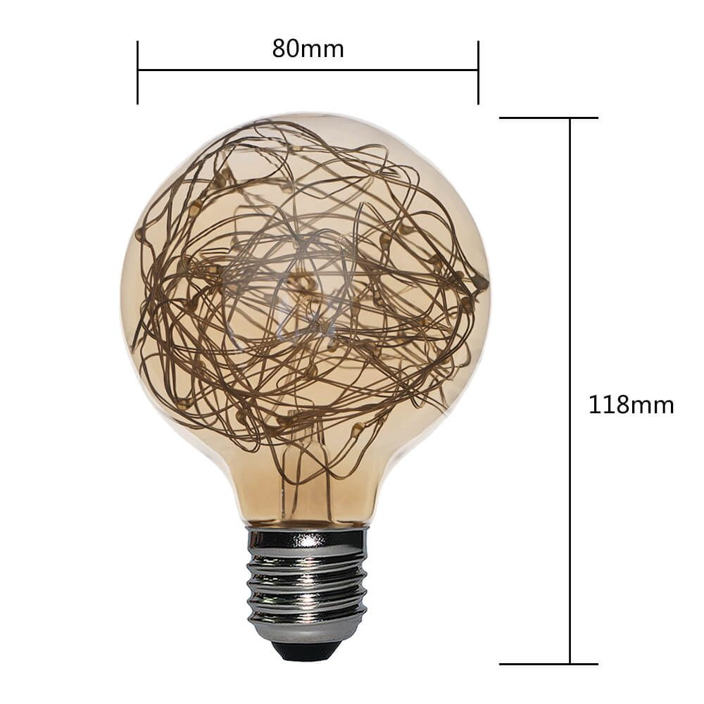 G80-CW-GREENL COLORFUL COPPER WIRE LED LAMPS | SIHON LIGHTING