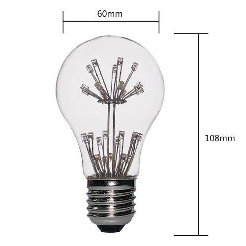 Dip Led Lamps A19/A60 2W Dimmable Warm White