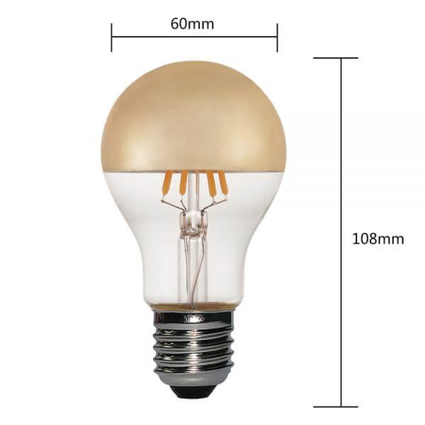 Gold Crown Medium Base Bulb A19 5W Dimmable