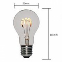 Soft LED Light Bulbs A19/A60 Loops Filament Clear Dimmable